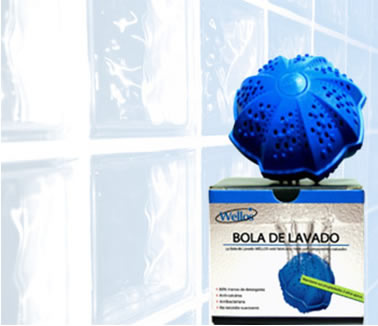 0705614fb Eco Bola de Lavado Wellos, para lavar la ropa sin jabón ni ...